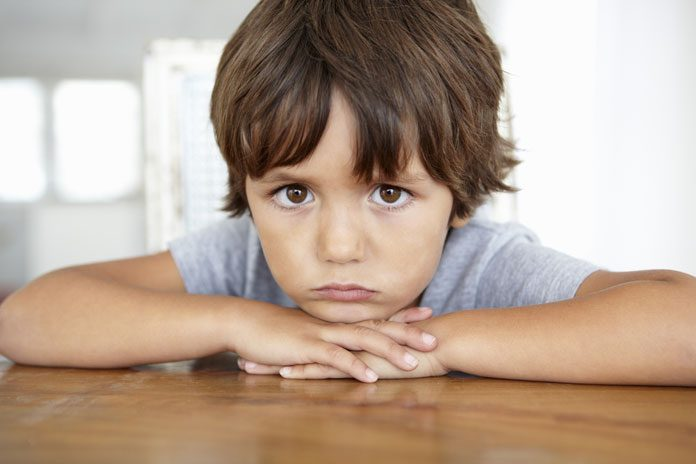 enttäuschtes Kind