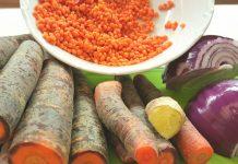 Karotten Ingwer Linsen Suppe mit Kokosmilch