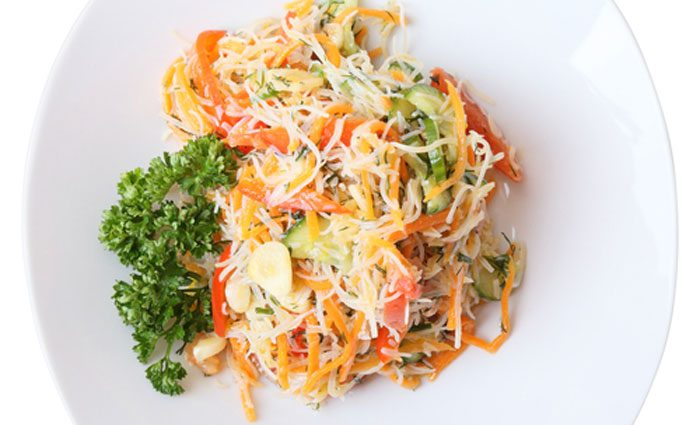 Karotten Zucchini Spaghetti