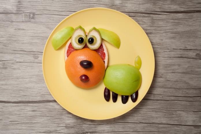 Obst-Hund-Kinder