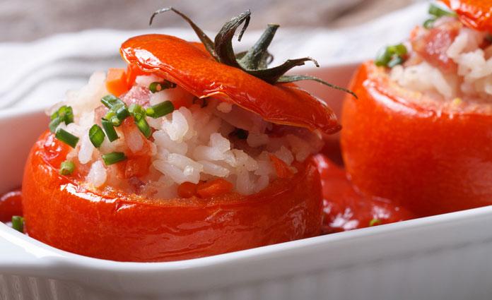 Gefüllte Tomaten mit Naturreis