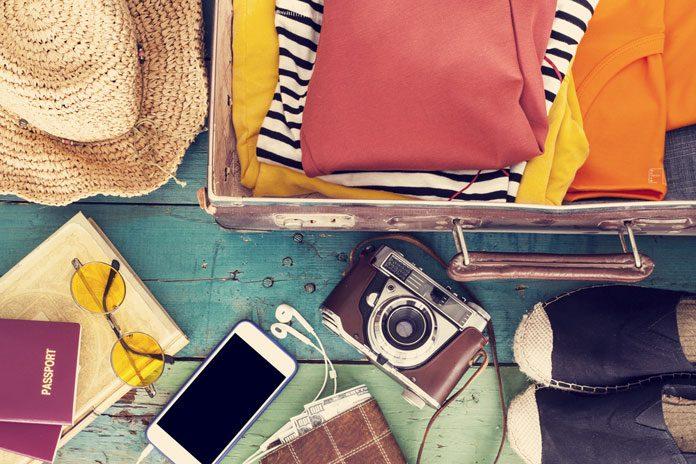 Urlaubsutensilien