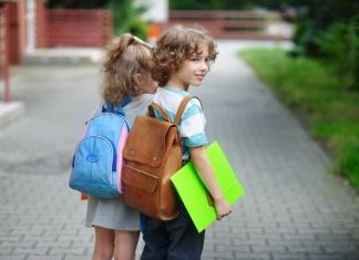 Kind Schultasche