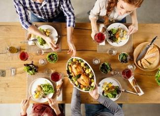 Nahrungsmittel Familientisch