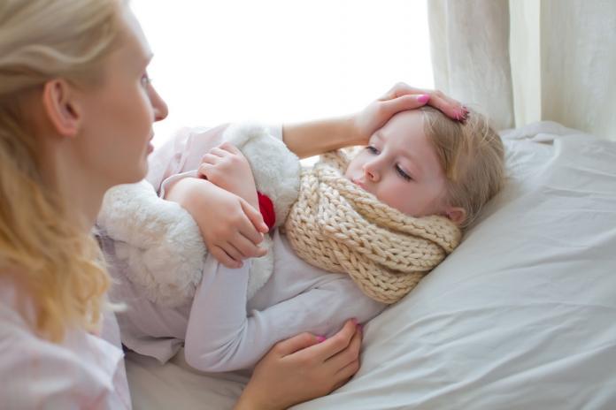 Kind zu krank im Bett