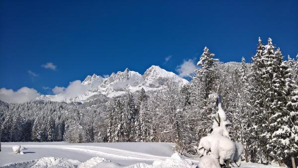 Wilder Kaiser mit Schnee